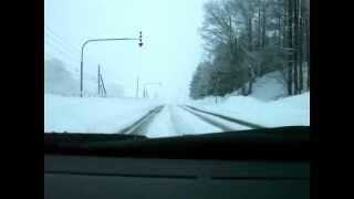 幌糠峠 季節外れの雪 おまけに除雪されておらず、FR車には厳しいぃ〜 あ...