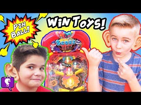 Pin Ball Machine SKEE Ball! Win Prizes with HobbyKids