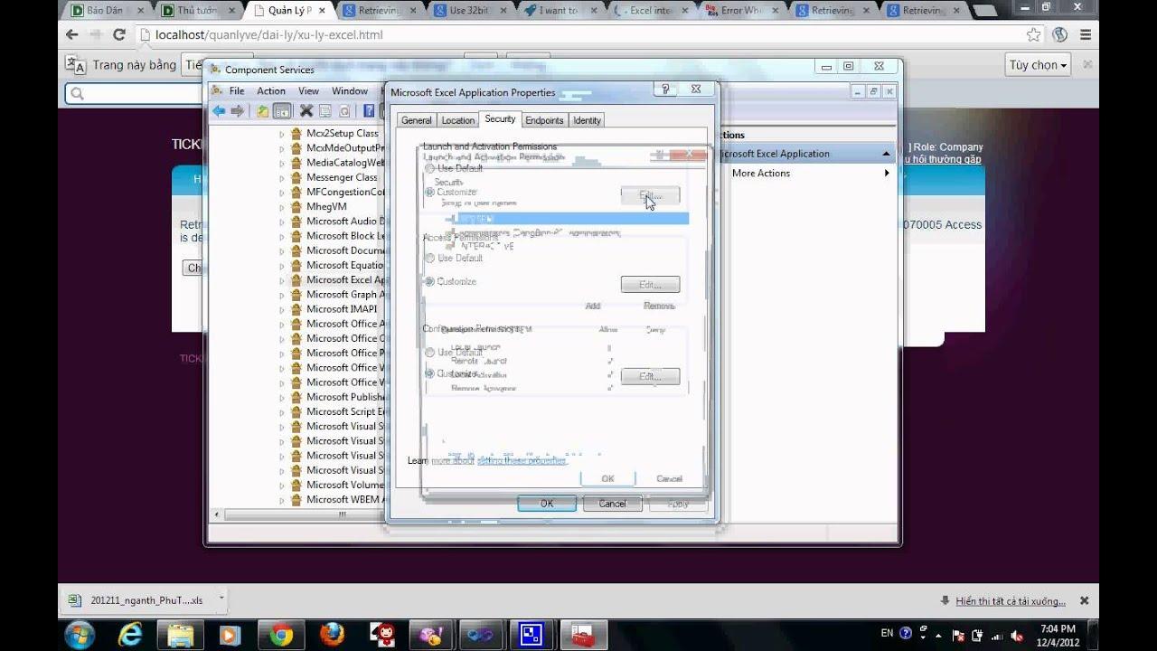 Write File Excel - 80070005 Access is denied - quanlyve com!