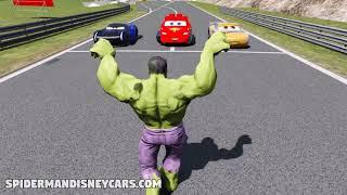Spider Man, Black Panther & Ironman Epic Race Disney Cars Lightning McQueen HD