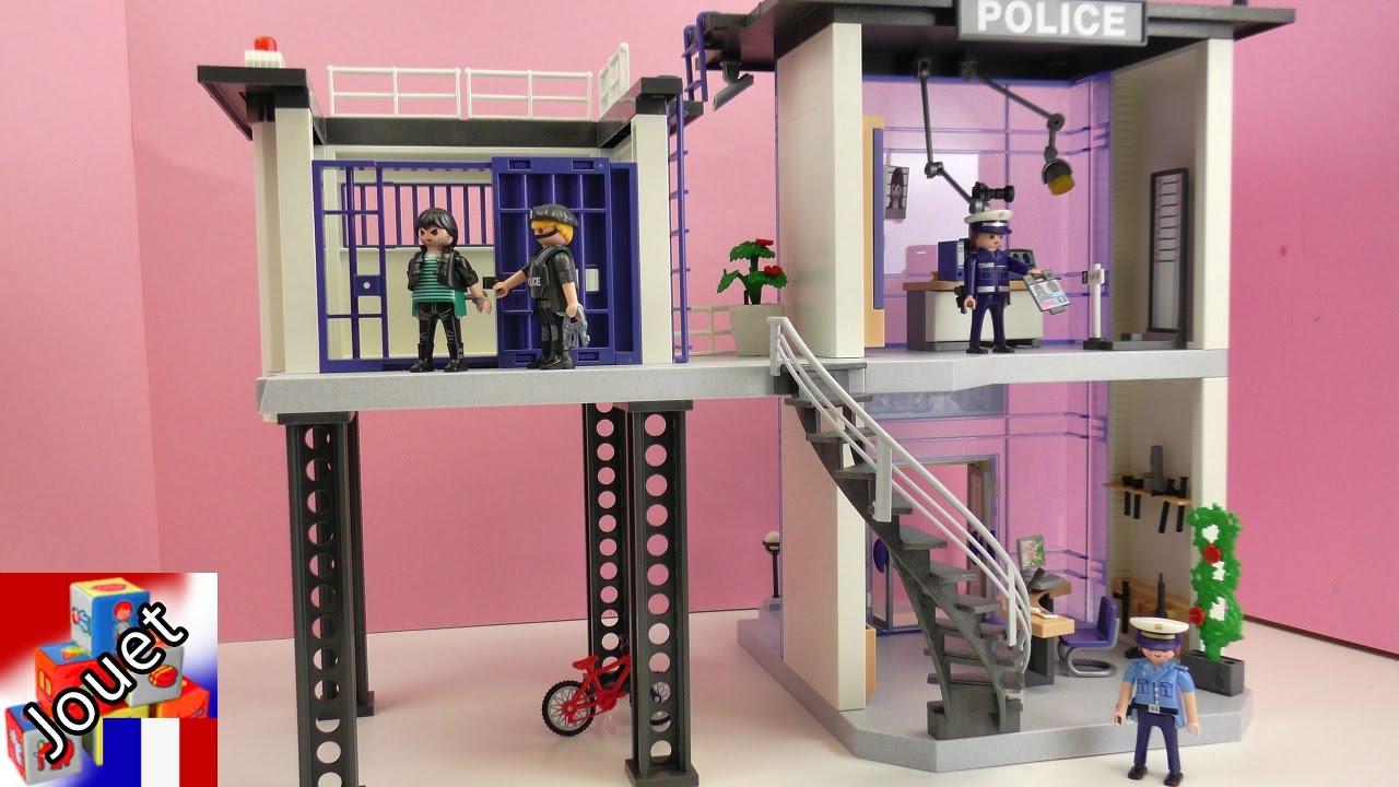 Commissariat de police city action playmobil commissariat de police avec alarme construction - Caserne de police playmobil ...