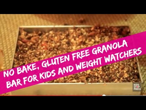 No Bake Gluten Free Granola Bar Recipe for Kids and Weight Watchers