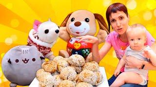 Игры для детей - Маша Капуки и ЧиЧиЛав готовят Творожные шарики для Карла! Видео шоу Мамина школа