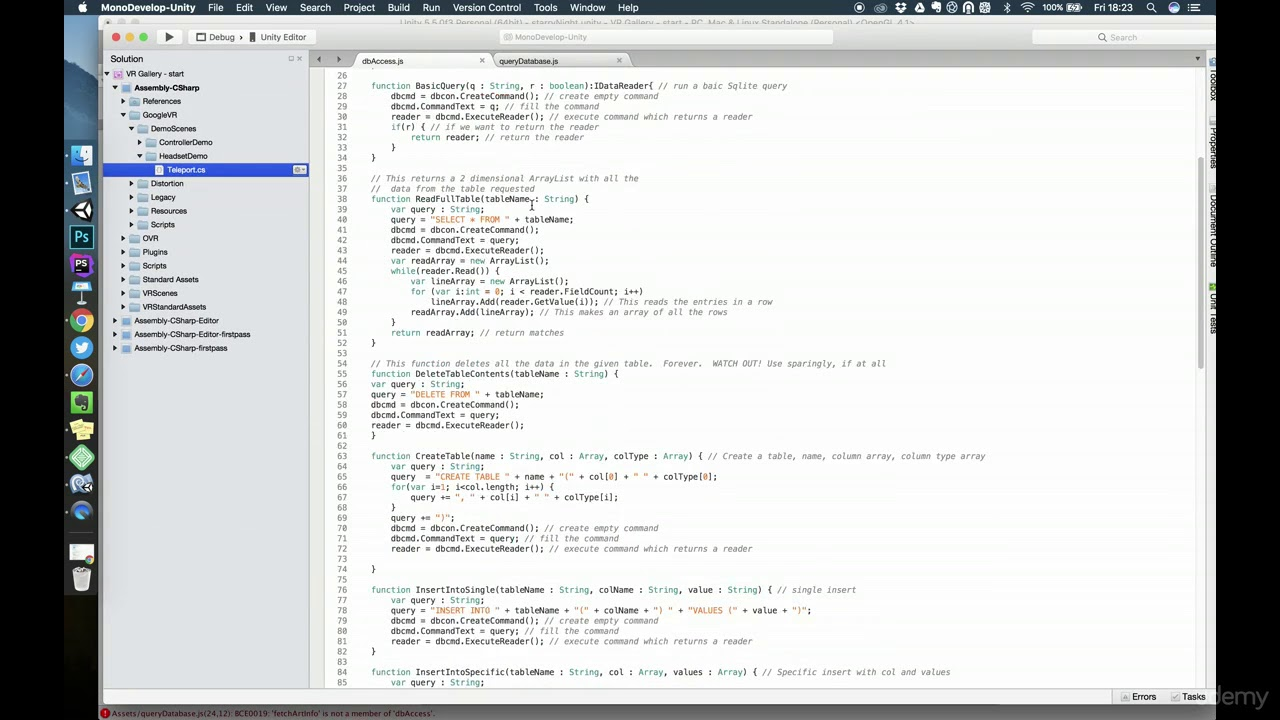 Attempt to write a readonly database unity3d free