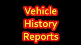 Vehicle History Report | VIN Car History