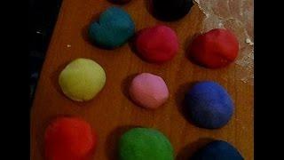 как сделать цветное соленое тесто  рецепт соленого теста