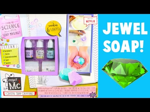 Project MC2 Crystal Soap Creations - I Make Jewel Shaped Scented Soap!