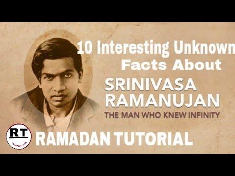 SRINIVASA RAMANUJAN By Ramadan Tutorial Ramadantutorial