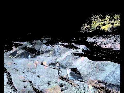 Virkisjökull terrestrial LiDAR animation