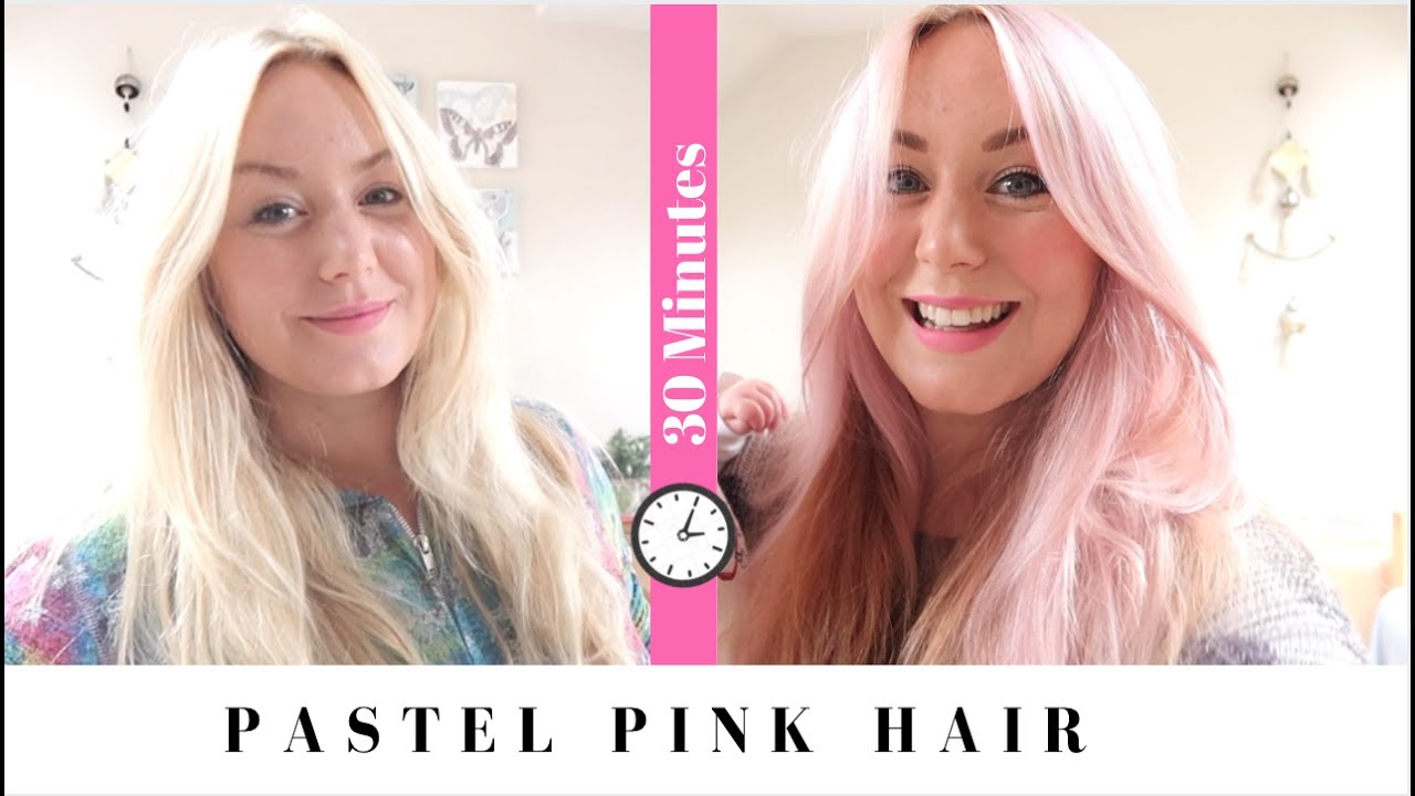 dying my hair pastel pink in 30 minutes with bleach london rose youtube. Black Bedroom Furniture Sets. Home Design Ideas