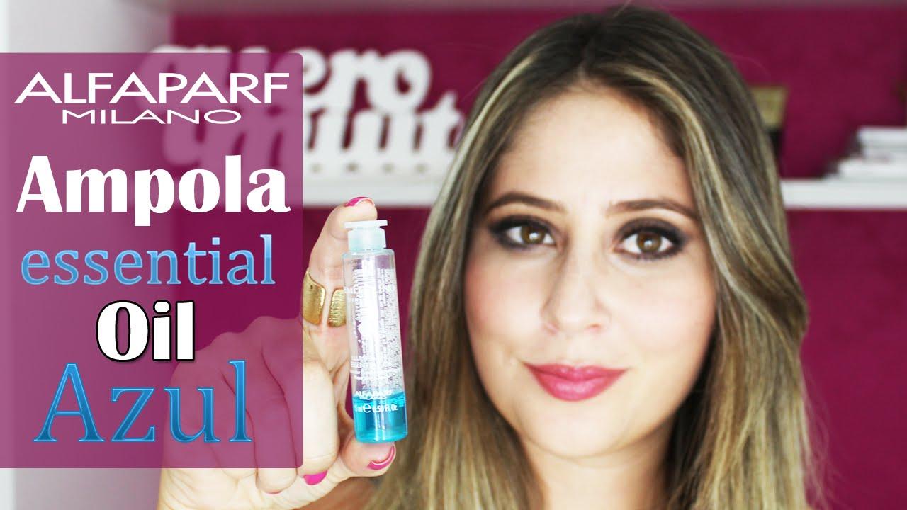 Alfaparf Ampola Semi Di Lino Essential Oil Azul Youtube