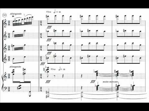 Hamelin plays Ornstein - Piano Quintet (1st mvt) Audio + Sheet music
