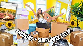 ONE MONTH OF UNBOXING + SUNFLOWER FIELD WITH MY DOGGO!🌻