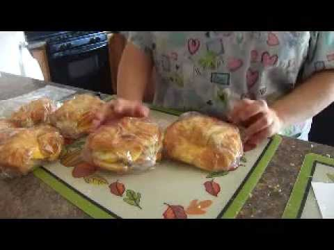 How to make a Breakfast Croissant Sandwich