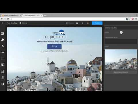 WiFi Splash Page - discover the Tanaza Editor - change your wifi login page in seconds! (TUTORIAL)