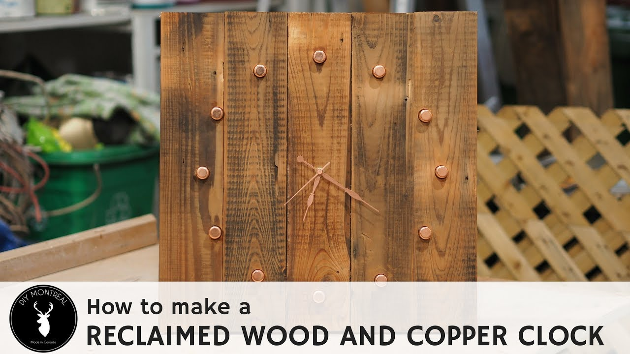 Diy Reclaimed Wood And Copper Clock Youtube