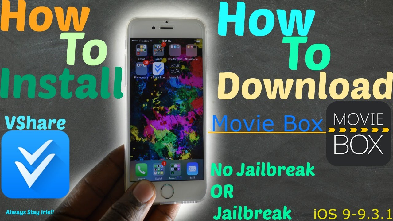 iOS 9 2 1/9 3 1/9 2/9 0:How To Install (Vshare Pro) | How To Download NEW  (Movie Box) - No Jailbreak
