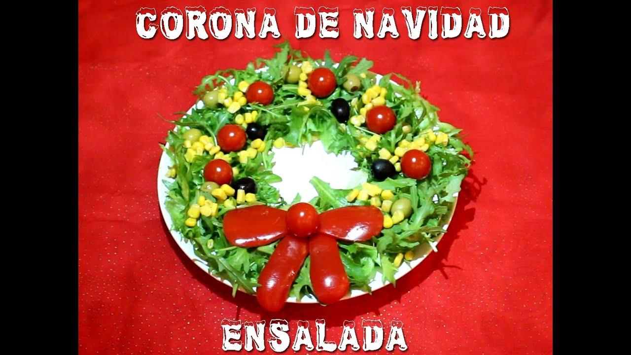Como decorar una corona navide a con ensalada christmas - Como decorar una ensaladilla rusa ...