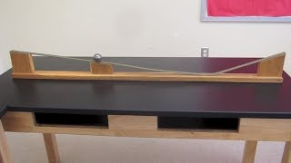Galileo's Inertia track////Homemade Science with Bruce Yeany