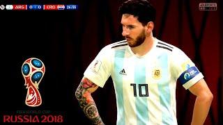 Argentina vs Croatia World Cup 2018 Russia    FIFA 18 Gameplay