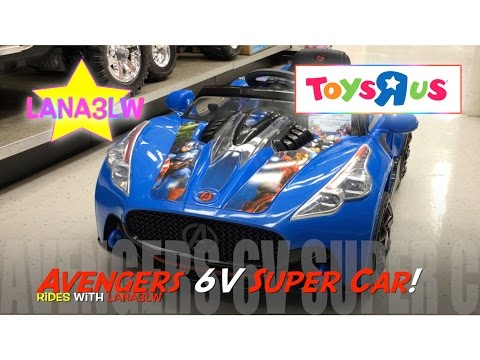 Best Popular Avengers 6V Kids Super Car Ride On Electric Test Drive at Toys R Us - Lana3LW