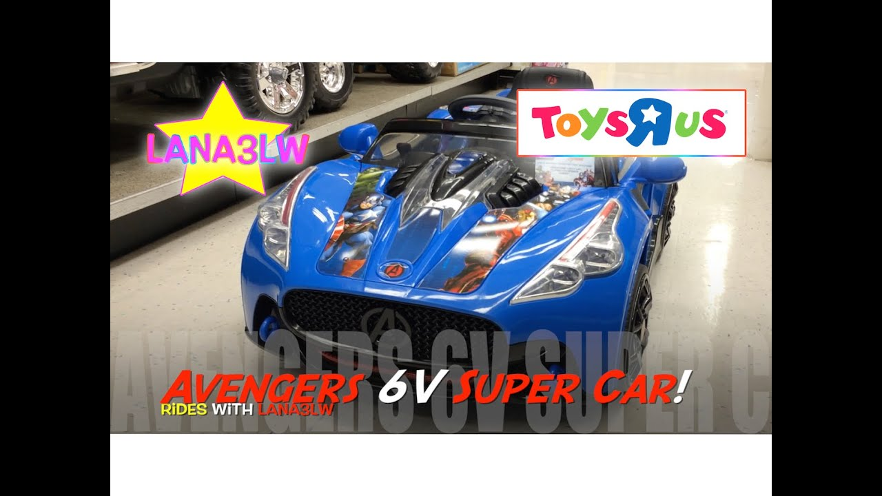 best popular avengers 6v kids super car ride on electric test drive at toys r us lana3lw youtube