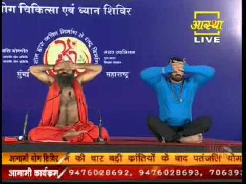 Swami Ramdev and Suniel Shetty Practising Yoga at Mumbai