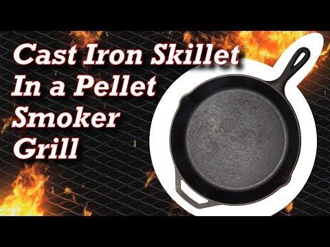 Cast Iron Skillet In a Pellet Smoker Grill – Pit Boss Steaks