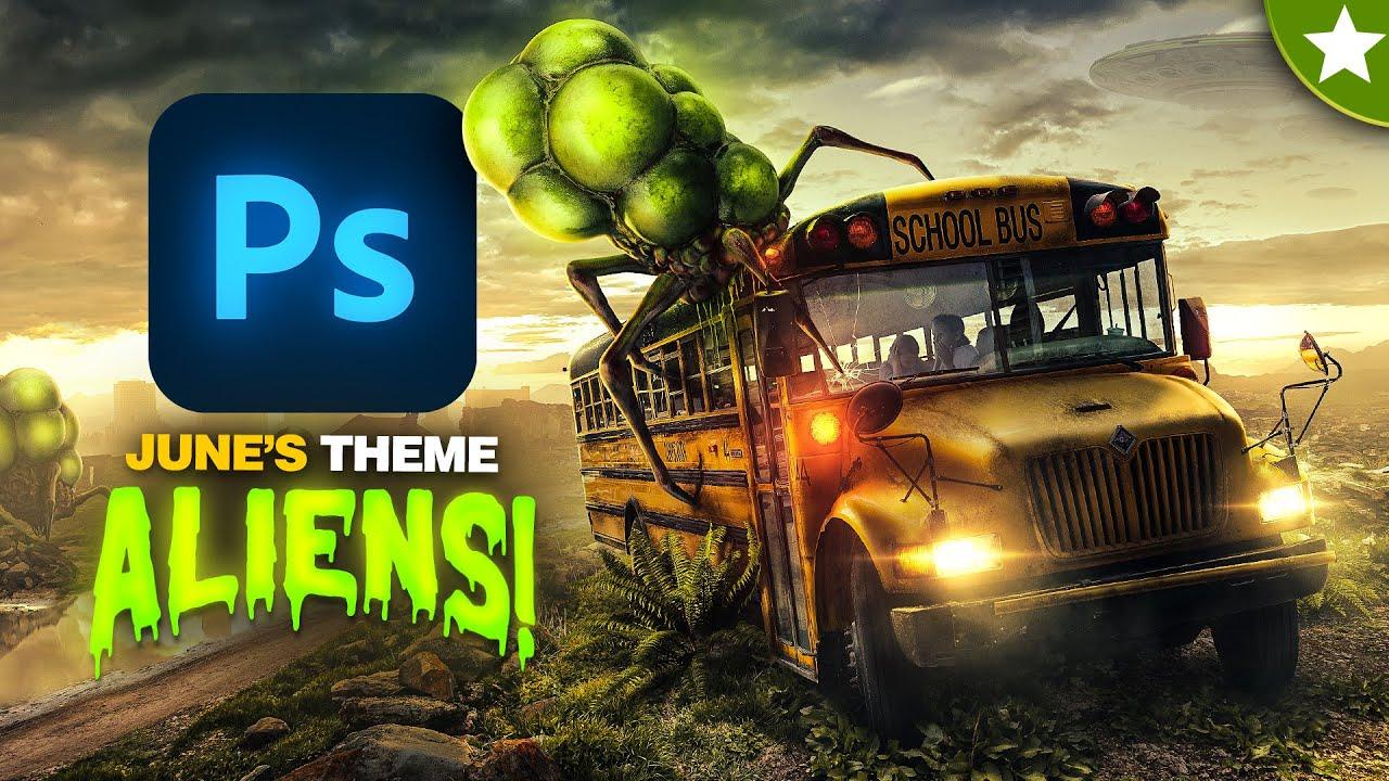 ALIENS! | Photoshop Speed Art • June Theme Intro