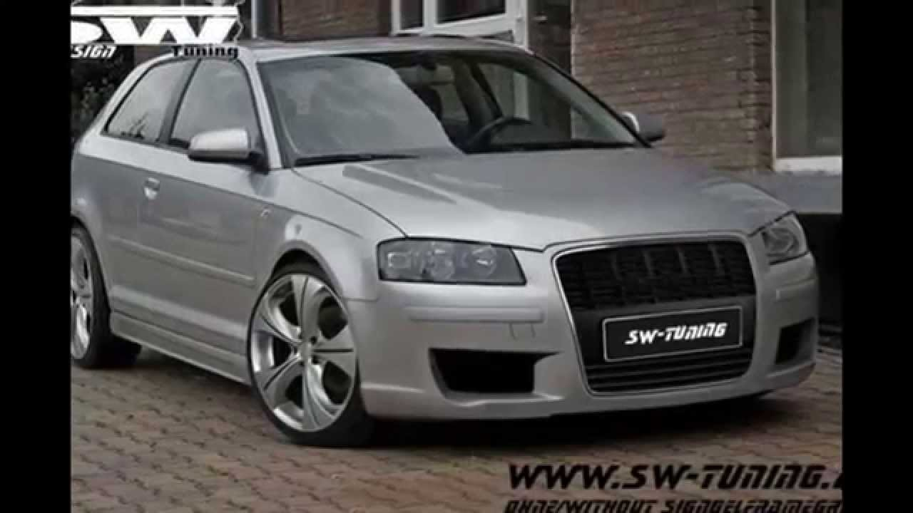 bodykit for audi a3 8p singleframe design sw design youtube. Black Bedroom Furniture Sets. Home Design Ideas