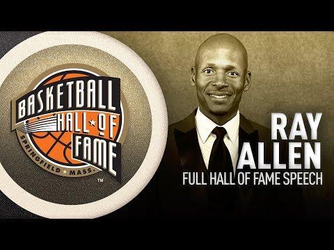 Ray Allen   Hall of Fame Enshrinement Speech