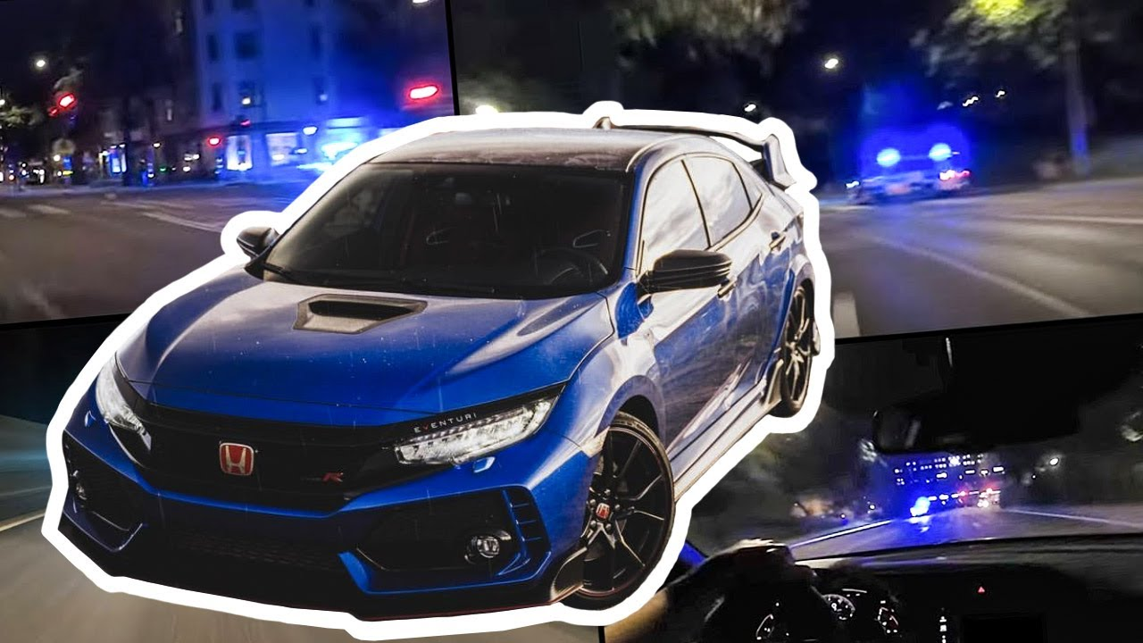 Download Ricer Honda Civic Type-R VS Police V90, XC70's, Transporters and more