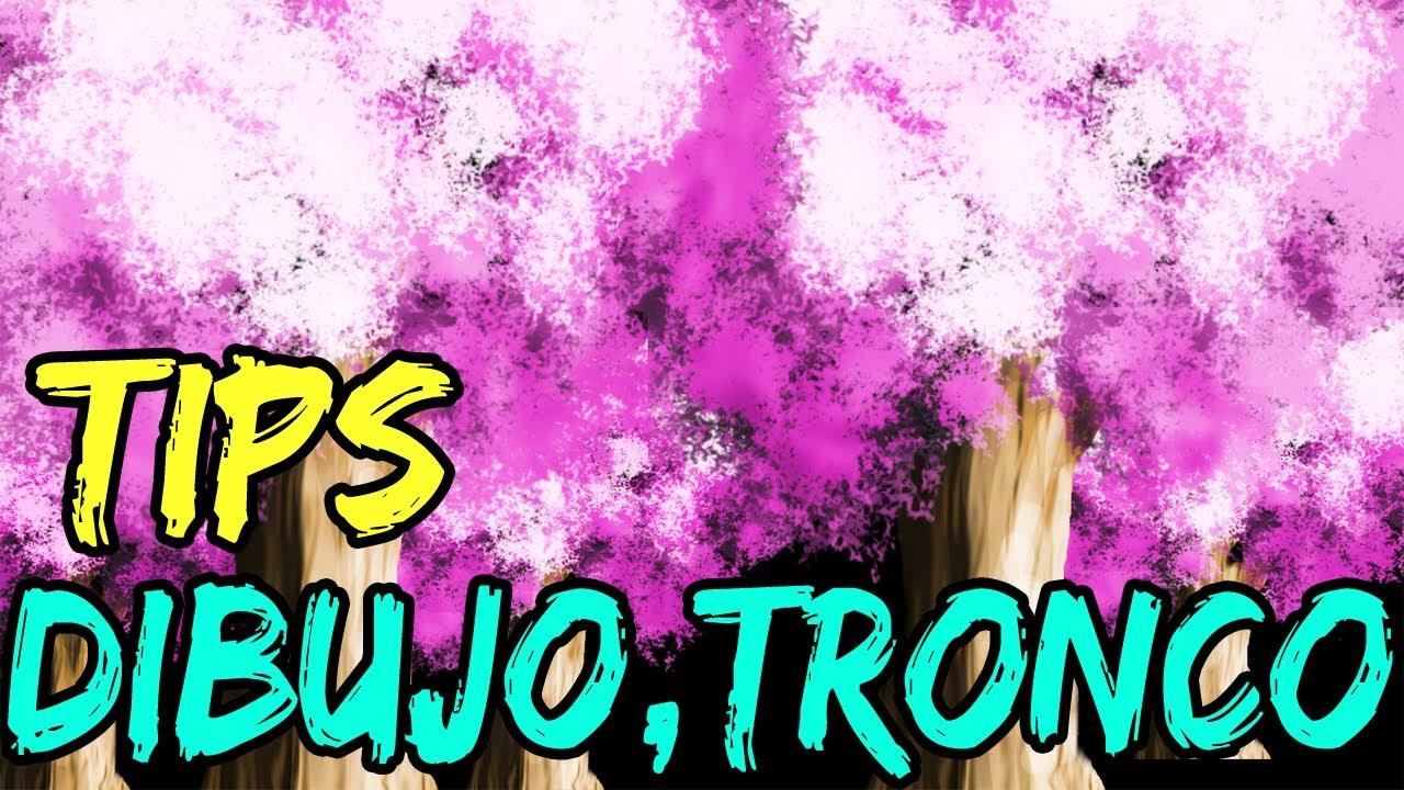 Dibujos De Arboles Coloreados: Como Dibujar Arbol -Tronco-