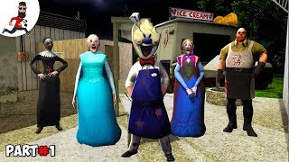 THE STORY of GRANNY ELSA ICE SCREAM 2 MR MEAT EVIL NUN   Funny Animation by Abegi JO  Part 26