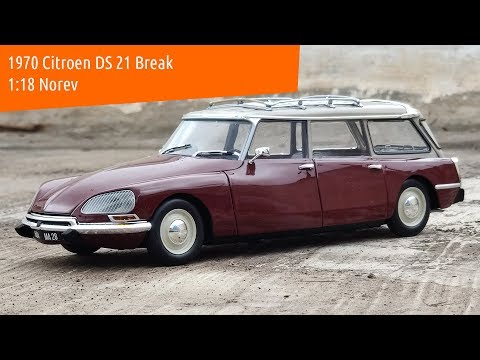 1970 Citroen DS 21 Break 1:18 Norev diecast scale model car review unboxing