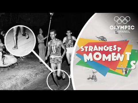 How Bikila won an Olympic Marathon barefoot!   Strangest Moments