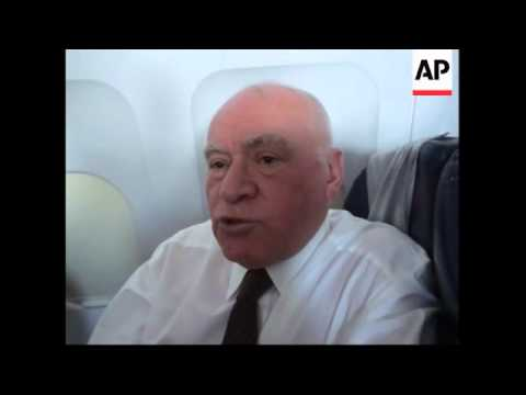 AP interviews with Milosevic's son and Russian cardiologist on plane