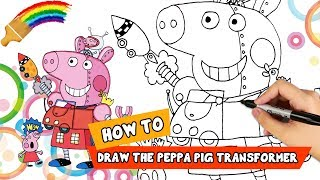 Draw Peppa Pig 🐷 Learn Peppa Pig Easy Drawing for Kids 🖌