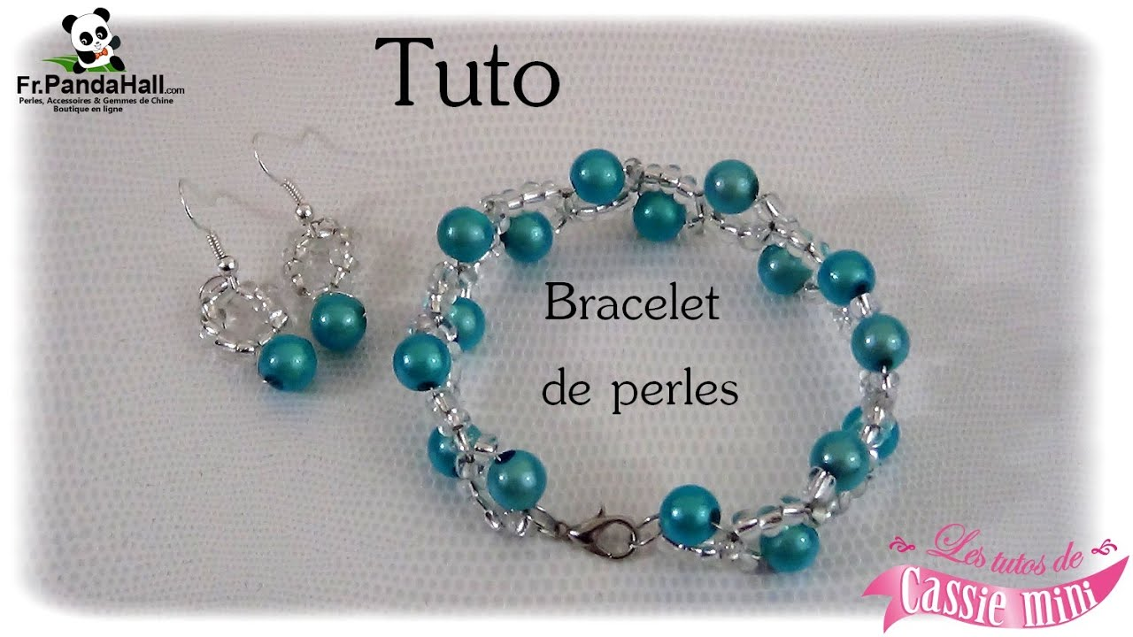 tuto bracelet de perles fr youtube. Black Bedroom Furniture Sets. Home Design Ideas