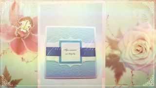 Приглашения на свадьбу ручной работы Gilliann Blue Sky INV045