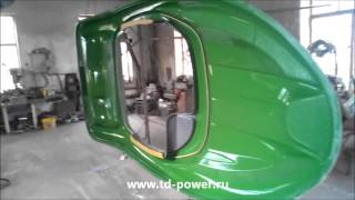 постройка стеклопластикового катера - нанесение гелькоута на верхнюю часть матрицы