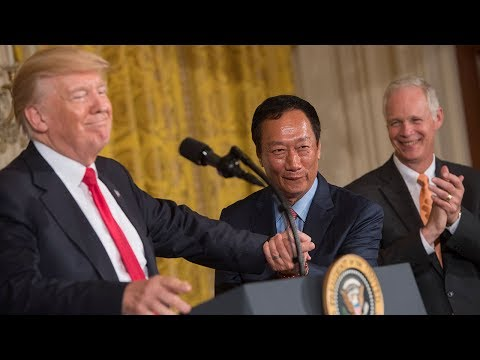 Foxconn announces US manufacturing plant in Wisconsin