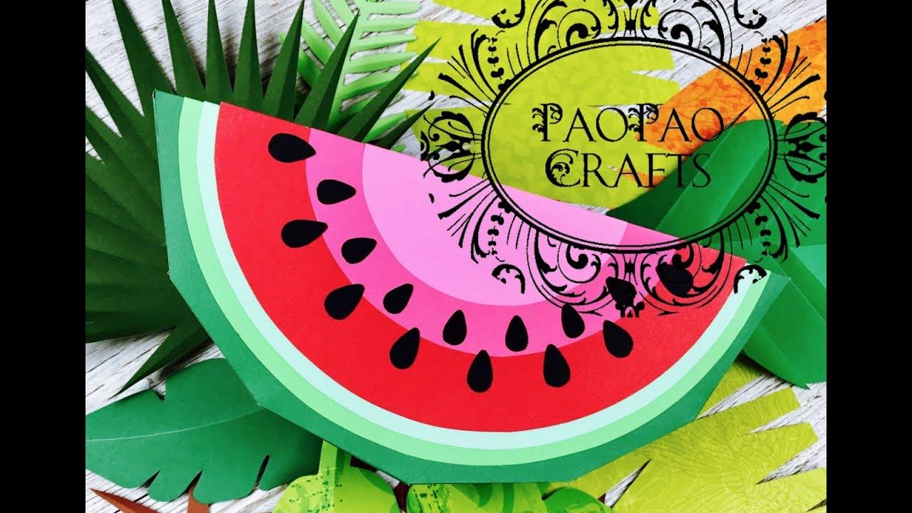 Frutas 3d sandia 1 3 frutas de papel moldes gratis for Como secar frutas para decoracion
