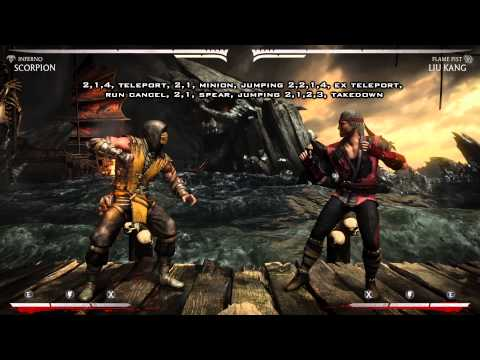 Mortal Kombat X - Scorpion Guide Tutorial Full Breakdown (1080p 60fps)