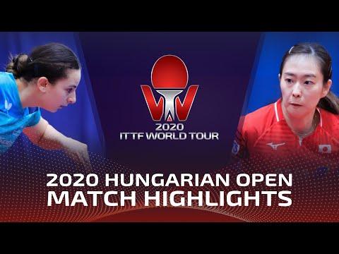 Dina M./Aikaterini T. vs Miu H./Kasumi I. | 2020 ITTF Hungarian Open Highlights (R16)