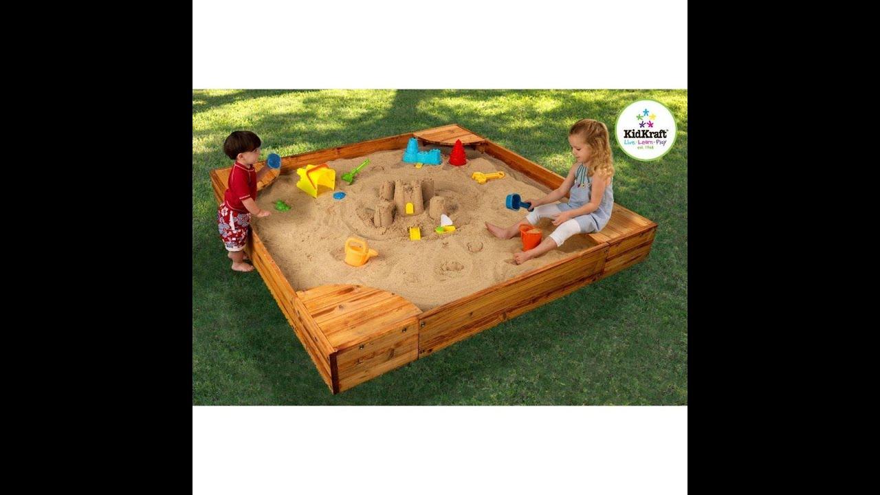 Kidkraft Backyard Sandbox review: kidkraft backyard sandbox - youtube