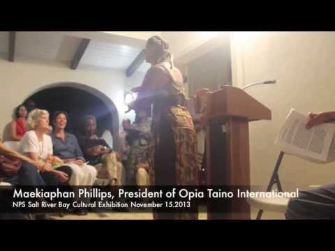 viccc-and-opia-taino-at-nps-salt-river-bay-opening-nov2013