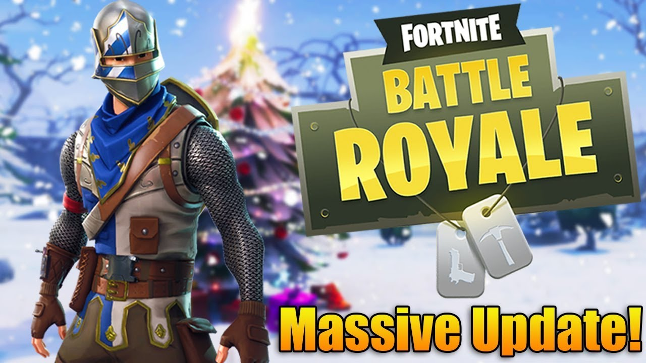 massive fortnite battle royale winter update new season. Black Bedroom Furniture Sets. Home Design Ideas