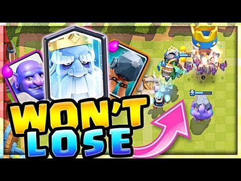 IT WONT LOSE!! the BEST Royal GHOST Deck!! (Molt Clash Royale)