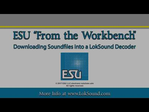 Using the ESU LokProgrammer to download files into a LokSound decoder
